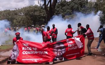 Picture of Kenyan protests against the IMF and structural adjustment programmes